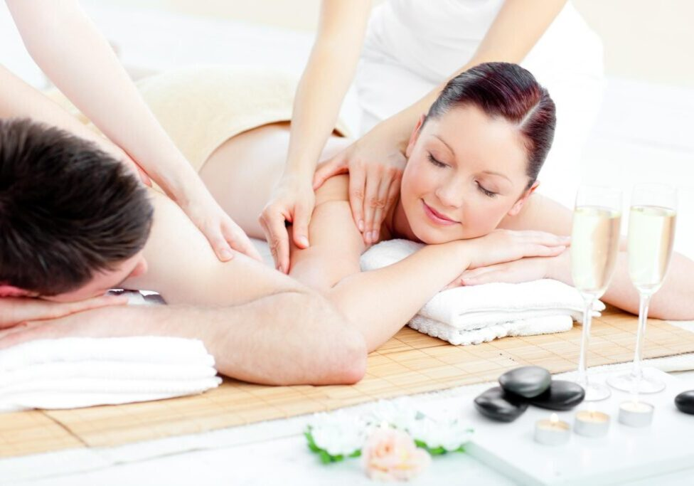 couple having a massage